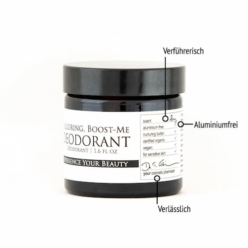 </p> <p>Derma ID Alluring Boost-Me Deodorant helps you as it is aluminum-free, effective against unwanted odors and has a seductive fragrance note</p> <p>