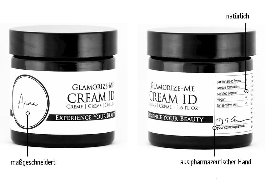 Derma ID Glamorize-Me Cream ID Gesichtscreme hilft dir, weil sie maßgeschneidert, natürlich und aus pharmazeutischer Hand ist