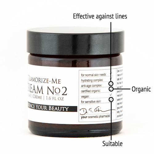 Derma ID Glamorize-Me Cream No. 2 face cream helps you because it is effective against wrinkles, organic and suitable for your needs