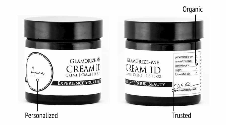 Derma ID Glamorize-Me Cream ID face cream helps you, because it is personalized, organic, and from trusted experts